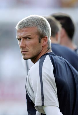 England's David Beckham looks on prior the UEFA Euro 2008 qualifying match between Estonia and England at the A. Le Coq Arena in Tallinn, Estonia, 06 June 2007. EPA/AFI/Inga Kundzina